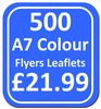 500 A7 Single Sided Flyers / Leaflets on 135gsm gloss paper with free UK delivery*